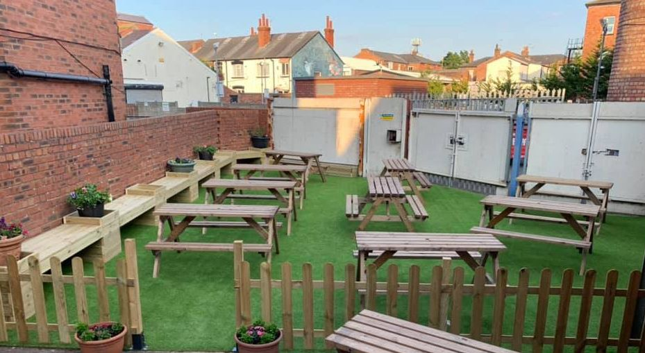 The new Oasis area at The Monument pub on Hoghton Street in Southport