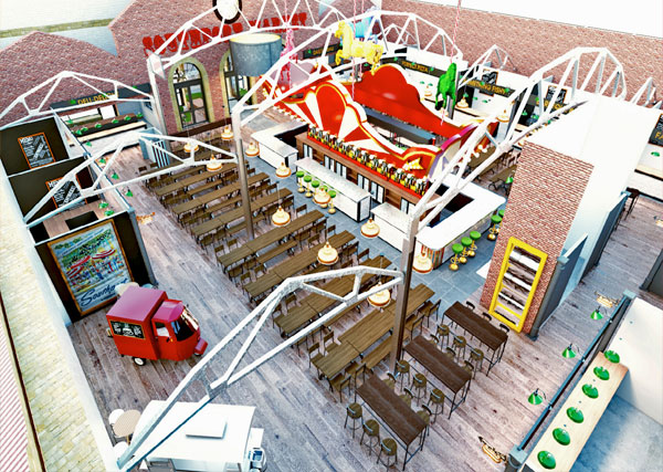 An artist's impression of how the transformed Southport Market will look