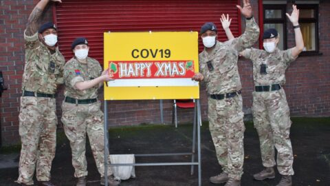British Army wishes Merry Christmas to Merseyside after busy year battling Covid-19